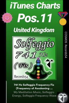 """Hz Solfeggio Frequency Fis (Frequency of Awakening of Intuition, Expression and Solutions, Clearing and Loosening)"""" von My Meditation Music, Solfeggio Energy & Solfeggio Frequency Wave Intuition, Itunes Charts, Solfeggio Frequencies, Chakra Crystals, Meditation Music, Album, Third Eye, Love And Light, Chakras"""