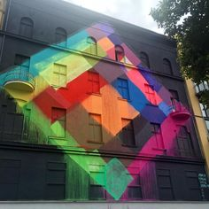 "maya hayuk found on  Impermanent Art / Street Art on Instagram: ""Recent @mayahayuk mural for #ProjectM / #PM8 in Berlin. Facilitated by @urbannationberlin and @stolenspacegallery.  #mayahayuk #urbannation #urbannationberlin #stolenspace #freedom #mural #art #publicart #streetart #streetartberlin #berlinstreetart #schöneberg #berlin #germany #impermanentart #ontour"""