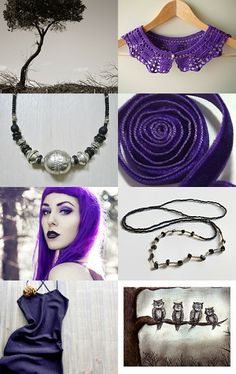 Amazing treasury: You are my Purple on a Grey Day............... by Eveline on Etsy--Pinned with TreasuryPin.com