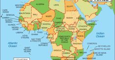 Africa is the second largest continent of the 7 continents in the world. It is divided into 54 independent nations. Popular countries are South Africa, Egypt, Cameroon, Senegal and more. Tanzania, Kenya, Rd Congo, Visa Information, Greece Map, All About Africa, Afrique Art, 7 Continents, Oceans Of The World