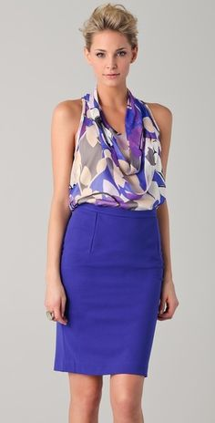 Purple DVF  When will i be able to afford such beautiful clothes?!