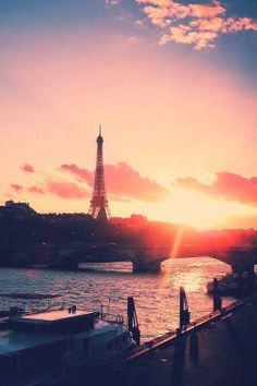 Paris at sunset #love