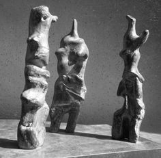Henry Moore - Works in Public - Three Upright Motives (Standing Figures) LH 715