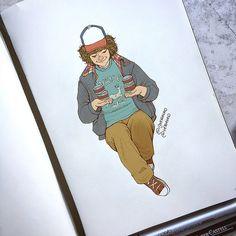 Dustin Henderson, Original art by @itsVerauko