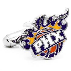 NBA Phoenix Suns Cufflinks  http://allstarsportsfan.com/product/nba-phoenix-suns-cufflinks/  Rhodium plated base metal and enamel All come packaged in officially licensed boxes