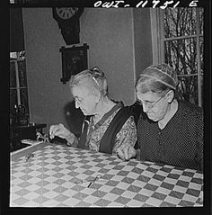 Quilting Circle at Moravian Church, Lititz, Pennsylvania. Photo for FSA by Marjory Collins, 1942