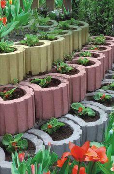 Pflanzringe gestalten, anordnen und bepflanzen