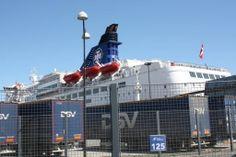 Parkplatz von DFDS Seaways