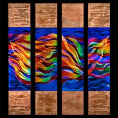 Syed F. Ahmad - Storm Series  12 x 60 x 3 each  $3500 each. These were so beautiful in person!