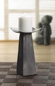 #10017356 Classic Gray Candle Stand by sensationaldecorandmore