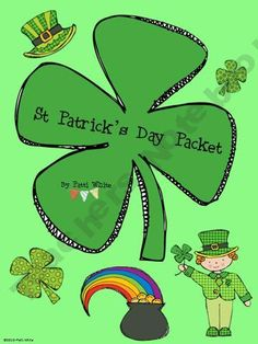 Saint Patrick's Day Packet by A Series of Grade Events Art Activities, Teaching Activities, Holiday Activities, Activity Ideas, Teaching Resources, Happy St Patricks Day, Saint Patricks, Holiday Crafts, Holiday Ideas