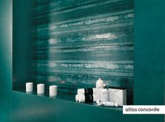 #EWALL petroleum green | #Stripes | #AtlasConcorde | #Tiles | #Ceramic