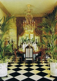 "Jacques Grange, Yves Saint Laurent and Pierre Bergé collaborated on the Normandy manor ""Chateau Gabriel"""