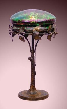 Table Lamp with Loetz Shade