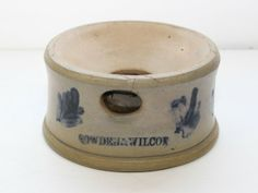 "Sold $250 UNUSUAL"" SMALL SIZE SPITTOON - COWDEN AND WILCOX, HARRISBURG PA 6 1/4"