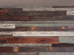 Scott did a great job on the reclaimed wood wall.