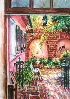 Alice Grimsley.      Watercolor