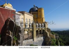 View of the Pena Palace, Lisbon, Portugal.