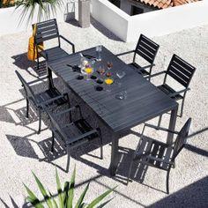 Table de jardin rectangle Aluminium 160x90 cm Bronze CREATION €369 ...