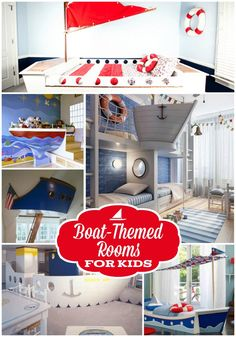 Boat beds and more, get some great ideas for how to make your kid's space especially nautical.