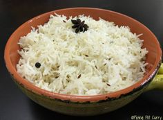 Perfectly cooked Basmati Rice flavored with cumin and whole spices, prepared in Instant Pot. Jeera or Cumin Rice can be enjoyed with any curry or lentil.