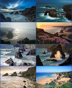 Carnewas & Bedruthan Steps (Cornish: Karn Havos, meaning rock-pile of summer dwelling and Cornish: Bos Rudhen, meaning Red-one's dwelling) is a stretch of coastline located on the north Cornish coast between Padstow and Newquay, in Cornwall, England. It i