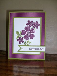 The Happy Stamper: sweet birthday card