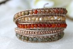 Rose Gold Plated Natural Wrap Bracelet Chan Luu Style