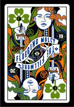 """Flogging Molly at the Fillmore in San Francisco, CA - 2008 - By Scrojo - """"Irish Deck of Cards"""""""