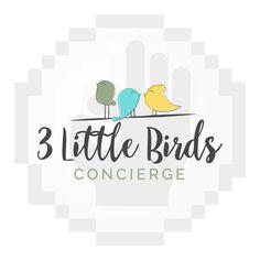 www.pixelsperfectstudio.com 3 Little Birds, Studio Logo, Etsy Store, Logo Design, Feelings, Logos, Products, Logo, A Logo