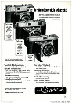 Original-Werbung/ Anzeige 1954 - KODAK RETINA  KAMERA  - ca. 150 x 220 mm