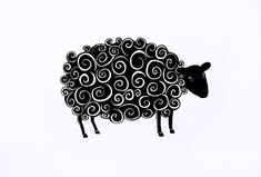 The Black Sheep giclée print pen and ink drawing by JudithLoganART Black Sheep Tattoo, Arte Punk, Crochet Sheep, Sheep Art, Farm Art, Zentangle Drawings, Animal Silhouette, Lion Tattoo, Pretty Tattoos