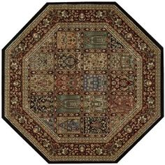 Nourison Empire Multicolor 7 ft. 9 in. Octagon Area Rug-695475 - The Home Depot