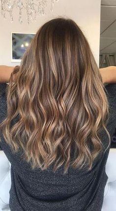 Hair Color Highlights, Hair Color Balayage, Brown Balayage, Balayage Highlights, Medium Brown Hair With Highlights, Natural Highlights, Fall Balayage, Partial Highlights, Carmel Brown Hair
