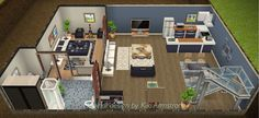 Side view of club owner's basement crash pad. In my Sims Freeplay