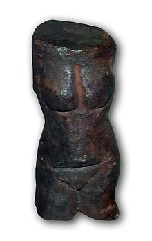 The Venus of Petřkovice (Czech: Petřkovická venuše or Landecká venuše) is a pre-historic Venus figurine, a mineral statuette of a nude female figure, dated to about BCE (Gravettian industry) in Czechoslovakia. Ancient Goddesses, Gods And Goddesses, Venus, Paleolithic Period, Mother Goddess, Ceramic Figures, Divine Feminine, Ancient Civilizations, Female Images