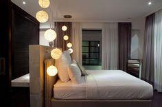 Bedroom, Hanging Lights, Casa Hannah in Bali, Indonesia by Bo Design