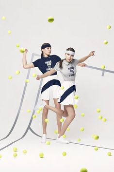 "La collection ""Rene Dit It First"" de Lacoste Mode Tennis, Tennis Shop, Sporty Chic, Sporty Style, Sport Casual, Lacoste, Elin Kling, Sport Editorial, Editorial Fashion"
