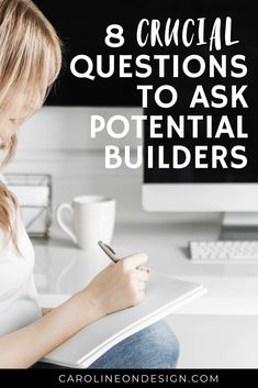 Are you afraid you'll choose the wrong builder for your home build and the process will go badly? I get it! Your builder can make or break your entire home build experience. The key to choosing a great builder is to ask potential home builders these 8 CRUCIAL questions! Home Building Tips, Building Plans, Building A House, Building Ideas, Custom Built Homes, Custom Home Builders, Questions To Ask, This Or That Questions, Custom Floor Plans