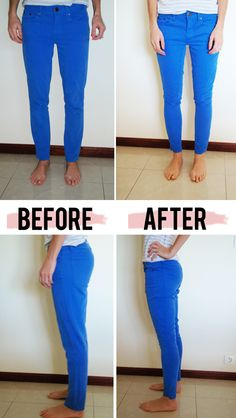 fix skinny jeans (or any jeans) that are too big.