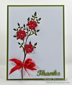 Negative die cut branch with flowers (try with MB)