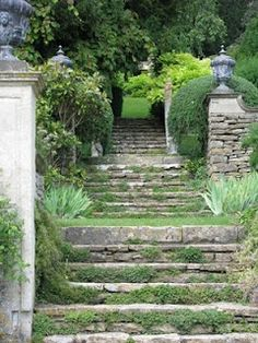 The Galloping Gardener:  Wiltshire, Iford, Peto's iconic steps