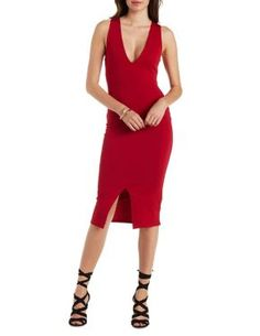 Crisscross Back Bodycon Dress #CharlotteLook #OnTrend