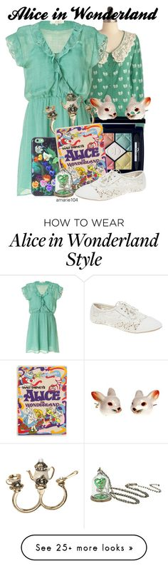 """""""Alice in Wonderland"""" by amarie104 on Polyvore featuring Christian Dior, Vanessa Bruno Athé, Marc by Marc Jacobs, Olympia Le-Tan, Disney, Wet Seal and And Mary"""