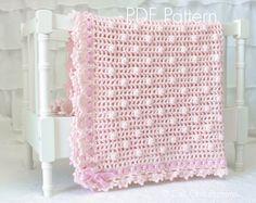 Crochet Baby Blanket PATTERN 12 - Crochet Blanket PATTERN 12 - Sugar Baby Pink Baby Blanket - Instant Download Pattern by CaliChicPatterns on Etsy https://www.etsy.com/listing/224626699/crochet-baby-blanket-pattern-12-crochet