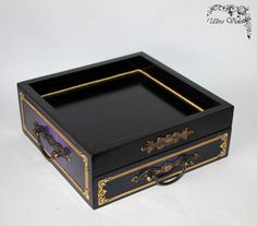 Tea serving tray very practical and convenient with a drawer with 3 compartments. A great addition t