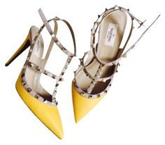 Valentino Rockstud Matte Yellow Pumps. Get the must-have pumps of this season! These Valentino Rockstud Matte Yellow Pumps are a top 10 member favorite on Tradesy. Save on yours before they're sold out!