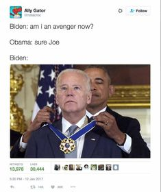 Funniest Memes of Biden and Obama Pranking Trump: Am I An Avenger Now? Best Funny Jokes, Crazy Funny Memes, Wtf Funny, Hilarious, Funniest Memes, Funny Test, Stupid Funny, Funny Quotes, Joe And Obama