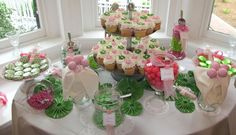 candy buffet ideas for weddings   This candy buffet is not pink and green, but I'm sure you can ...