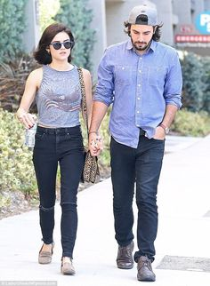 Lucy Hale gets close to new beau Anthony Kalabretta in West Hollywood | Daily Mail Online